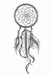 72 mysterious dream catcher tattoos design dreamcatcher for Dream catcher tattoo template