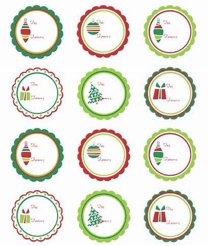 Labels Christmas Printable Label Round Templates Circle