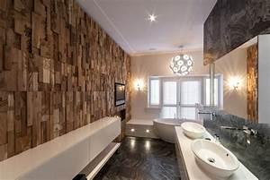 Panneau mural en bois et revetements 3d photos exclusives for Salle de bain design avec panneau mural décoratif bois