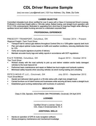 truck driver resume ipasphoto