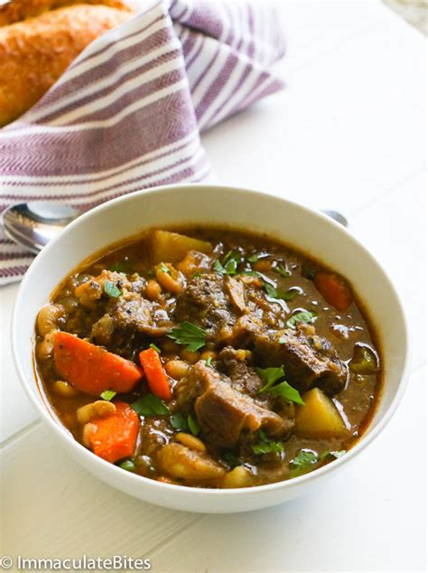 oxtail soup slow cooker oxtail soup immaculate bites