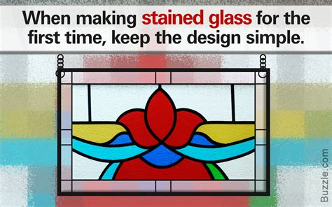 how to make a stained glass l simple steps that show how to easily make stained glass at