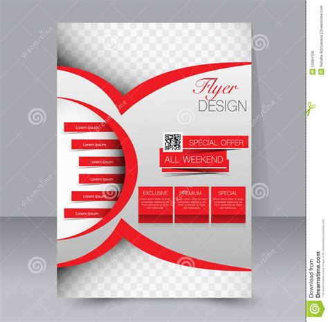 poster design template flyer template business brochure editable a4 poster stock vector illustration of layout