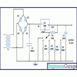 Circuit Diagram For Variable Power Supply From Fixed