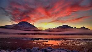 twilight, cook, inlet, alaska, wallpapers