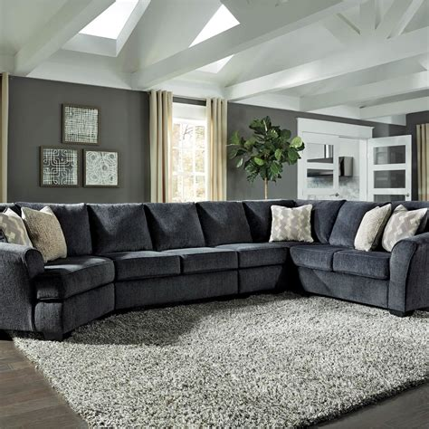 Cuddler Loveseat by Signature Design By Eltmann 4 Pc Sectional Laf