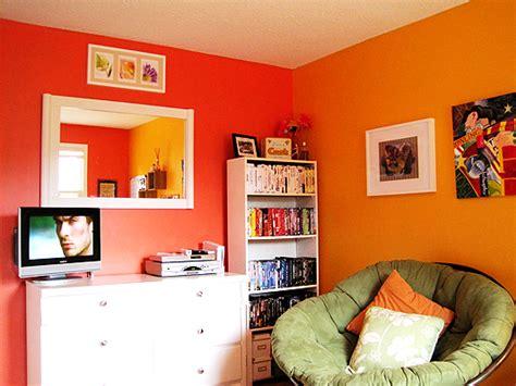 Orange And Yellow Bedroom