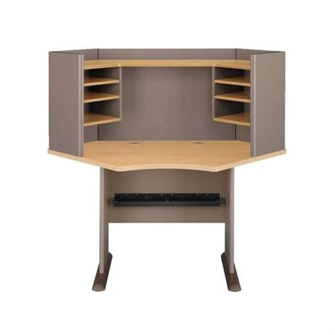 computer desk workstation table 42 quot wood corner with hutch