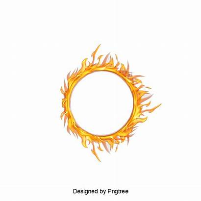 Fire Circle Ring Effect Clipart Smoke Flames