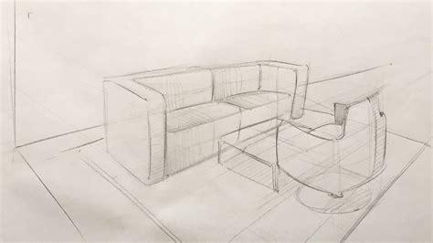 Raum 3d Zeichnen by Innenarchitektur Ganz Einfach Skizzieren 3 4 Zeichnen