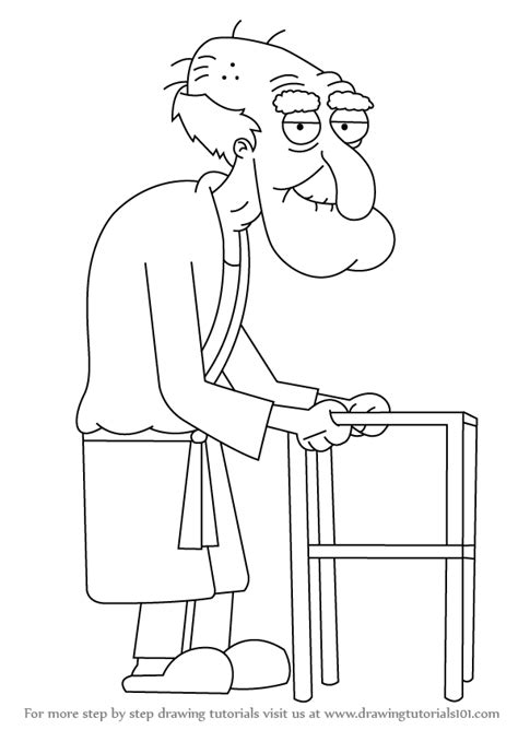 learn   draw herbert  family guy family guy