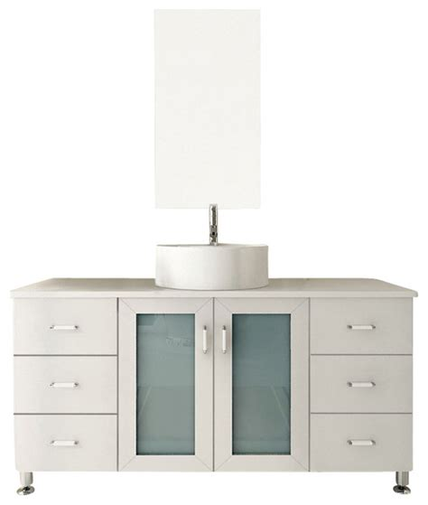 houzz bathroom vanities white grand lune white single vessel sink modern bathroom vanity