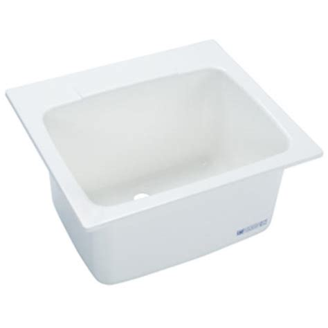 menards stainless utility sink mustee 22 in x 25 in molded fiberglass self