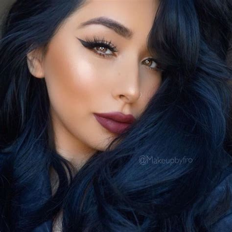 Blue Black And Hair by Best 25 Midnight Blue Hair Ideas On Blue