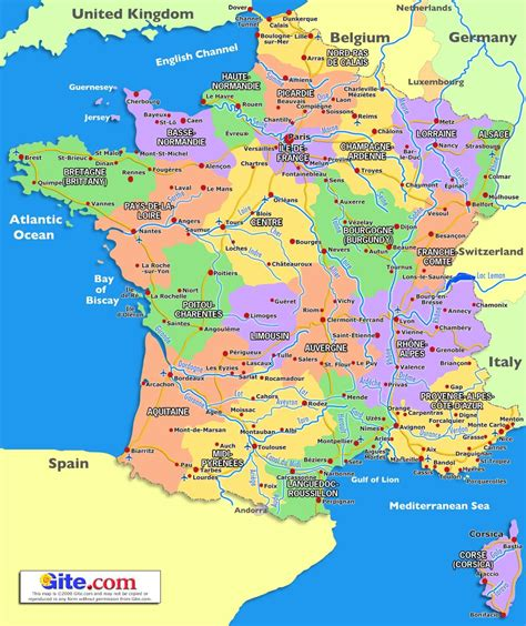 Map Of South France France Map France France Travel