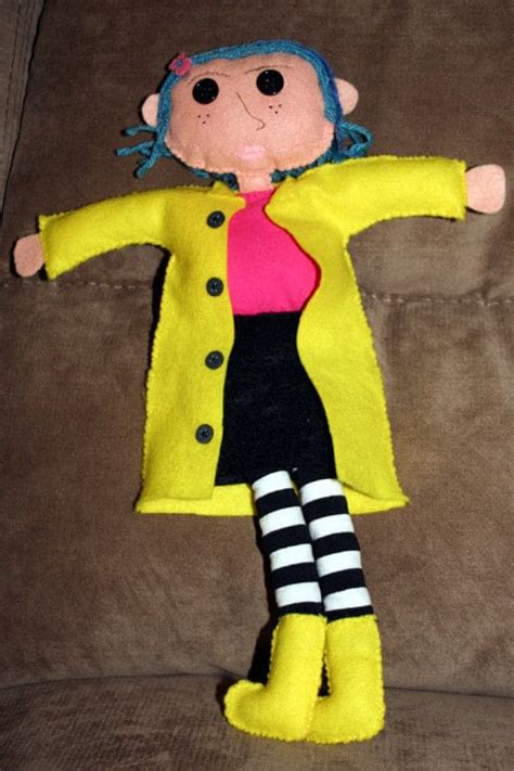 coraline doll   plushie sewing  cut