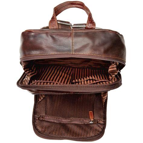 jack georges voyager leather laptop backpack