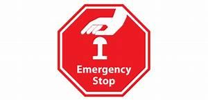 E Stop Symbol