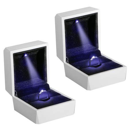 Ring Box With Light by Eeekit 2 Pack Box Light Up Led Ring Box