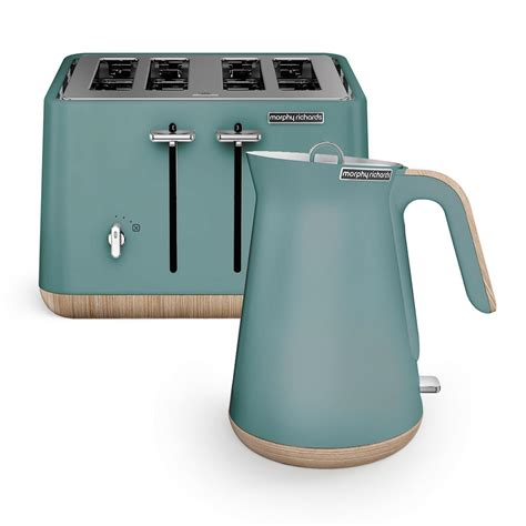 teal kettle and toaster set scandi teal aspect kettle and 4 slice toaster set