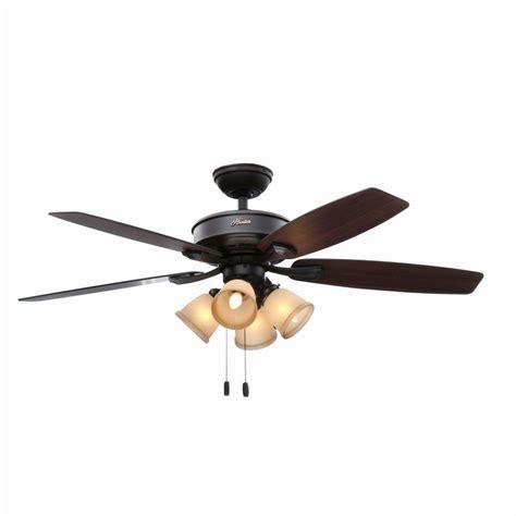 home elegance ceiling fan 52 hunter belmor 52 in indoor new bronze ceiling fan with