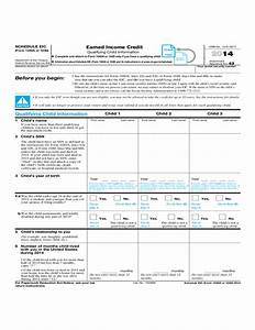 Form 1040 Schedule Eic Earned Income Credit Qualifying