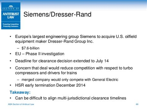 Siemens Dresser Rand Eu by Proskauer Antitrust Update For In House Counsel