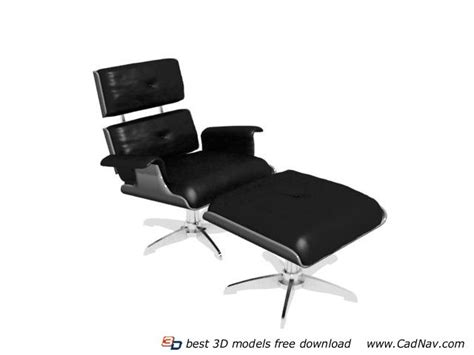 office lounge chair and ottoman 3d model 3dmax files free