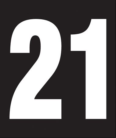 "234""w X 214""h Pump Number Decal, White On Black, ""you"