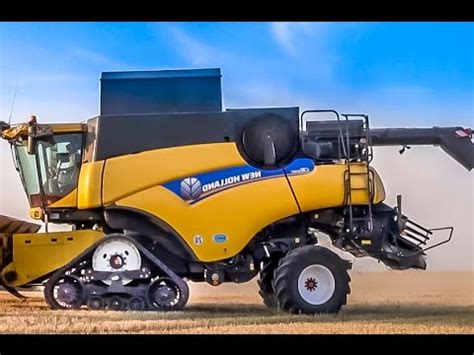 Bid Now Combine Harvester New At Work Big Thing Amazing