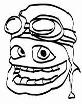 Crazy Coloring Frog Face Popular Bijlagen Coloringhome sketch template