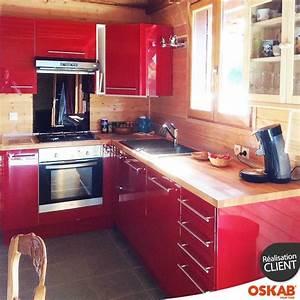 32 best images about avis photos cuisine equipee oskab on With awesome meuble de cuisine en bois rouge 0 cuisine moderne en bois