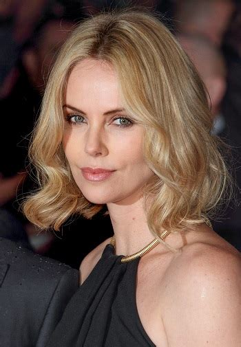 hairstyles charlize theron medium soft waves hairstyle