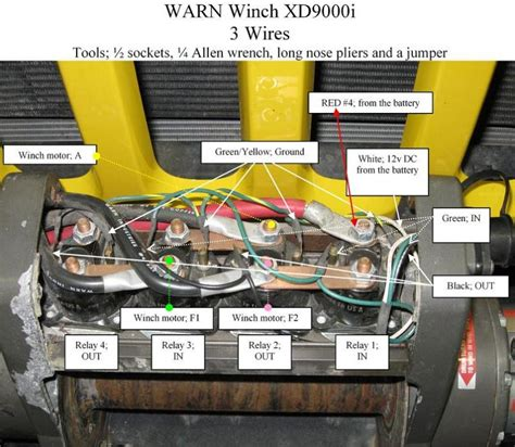 warn winch  schematic jeeps canada jeep forums