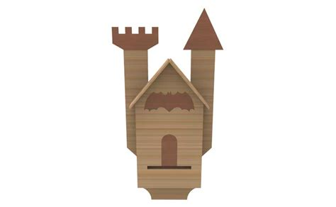 bat house pattern quot gotham city quot bat house bird bat butterfly houses bird feeders makecnc