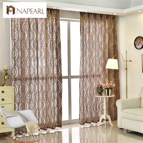 Where To Buy Living Room Curtains by Aliexpress Buy Napearl Modern Jacquard Curtain Home