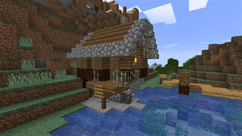 fishing hut   built   lets play world album   comments minecraft