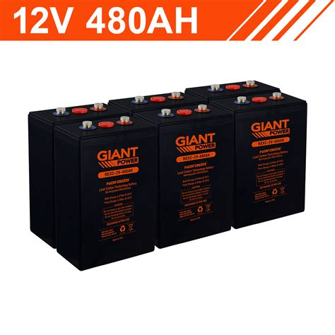 kwh  ah lead carbon battery bank  cells