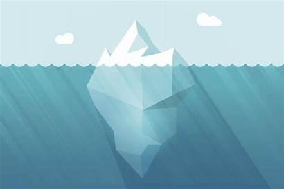 Iceberg Water Vector Underwater Floating Cartoon Waves