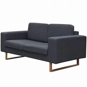 Sofa 4 Sitzer Stoff : der vidaxl 2 sitzer sofa stoff dunkelgrau online shop ~ Bigdaddyawards.com Haus und Dekorationen