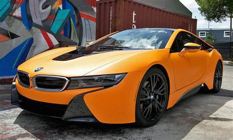 matte orange matte orange bmw i8 looks candylicious