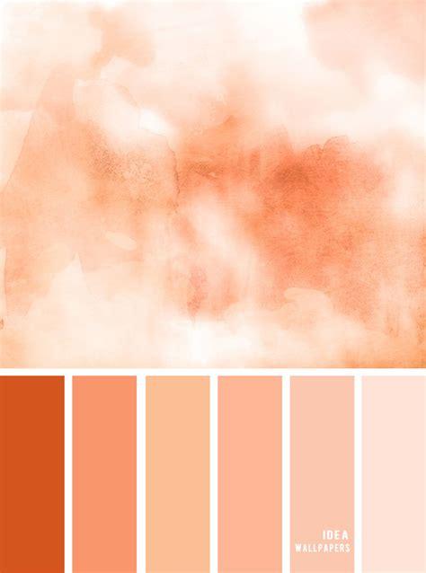 colour inspiration tones  peach color palette peach