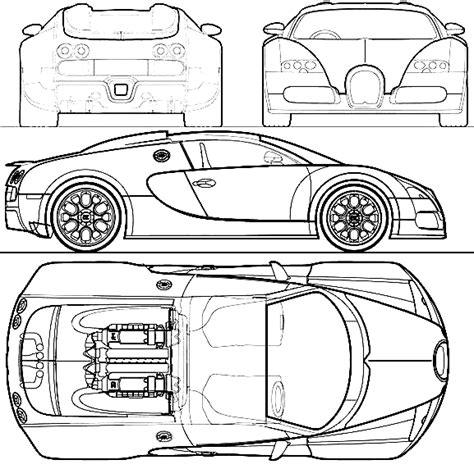 Bugatti Veyron Blueprint by 2009 Bugatti Veyron Grandsport Coupe Blueprints Free