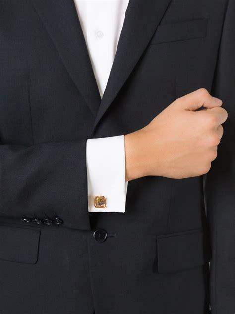 lyst tateossian gear square cufflinks  metallic  men