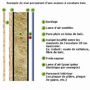 Epaisseur Mur Ossature Bois : murs et parois perspirants guide habitat isolation ~ Melissatoandfro.com Idées de Décoration