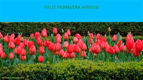 Feliz Primavera Flores tarjetas