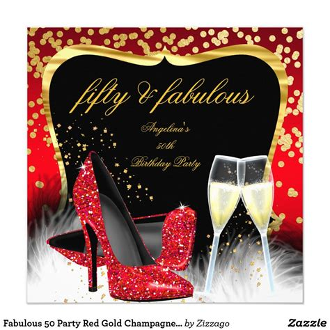 fabulous  party red gold champagne glitter heels