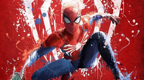 spiderman ps art  hd games  wallpapers images