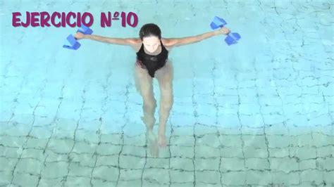 Aquagym Ejercicios En El Agua Con Pesas Acuáticas Youtube