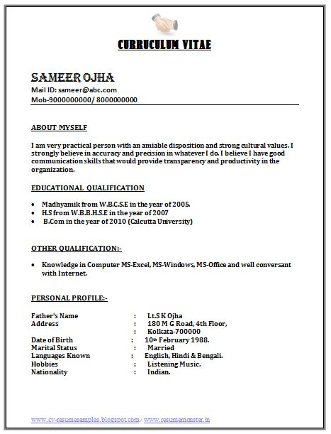 image result  call center resume format  freshers